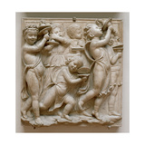Putti Playing Cymbals, Detail from the Cantoria, C.1432-38 Giclee Print by Luca Della Robbia