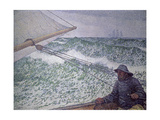 The Man at the Tiller, 1892 Giclee Print by Théo van Rysselberghe