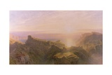 Sunset at Tintagel, 1871 Giclee Print by John Mogford