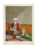 An Effendi, Man of Law in His Study, 18th Century Giclee Print by Gerard Jean Baptiste Scotin