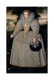 Portrait of Elizabeth Buxton (Nee Kemp) C.1588-90 Giclee Print by Robert Peake