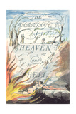 Title Page, from Marriage of Heaven and Hell Lámina giclée por William Blake