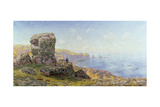 Golden Prospects, St. Catherine's Well, Land's End, Cornwall, 1881 Giclee Print by John Brett