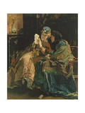 Reading the Letter Giclee Print by Alfred Emile Stevens