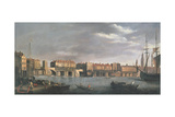 East Side of Old London Bridge before 1760 Giclee Print by Samuel Scott