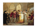 Falstaff in Disguise Led Out by Mrs Page, Act 4 Scene 2, in the Merry Wives of Windsor, by… Giclee Print by James Durno