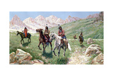 In the Cheyenne Country, 1896 Giclee Print by John Hauser
