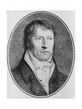 Portrait of Georg Wilhelm Friedrich Hegel (1770-1831), German Philosopher, Engraved C.1825 by… Giclee Print by Johann Christian Xeller