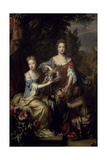 Portrait of Lady Frances Lady Coningsby (1675-1714/15) and Lady Katherine Jones Giclee Print by William Wissing