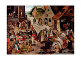 The Seven Acts of Charity Impression giclée par Pieter Brueghel the Younger