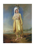 Princess Caraboo of Javasu (Mary Baker), 1817 Giclee Print by Edward Bird