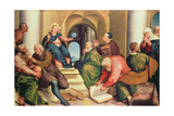 Christ Among the Doctors, 16th Century Giclee Print by Jacopo Bassano