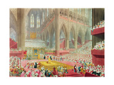 The Coronation of King George IV: the Recognition, 19th July 1821, Engraved by Matthew Dubourg,… Giclee Print by James Stephanoff
