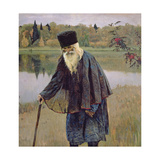 The Hermit, 1888 Giclee Print by Mikhail Vasilievich Nesterov