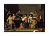Group of Musicians Giclee Print by Jan van Bijlert or Bylert