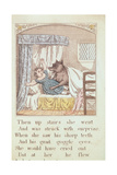 Little Red Riding Hood, Illustration from a Book of Children's Fairy Tales, Early 19th Century Giclee Print
