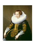 Portrait of Mrs Van Voorst (One of a Pair: 132049), 1628 Giclee Print by Paulus Moreelse