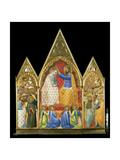 Jungfru Marias kröning Gicléetryck av Allegretto Nuzi