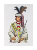 Halpatter-Micco or Billy Bowlegs, a Seminole Chief, C.1825, Illustration from 'The Indian Tribes… Giclee Print by Charles Bird King