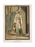 Thamar, an Israelite in the Retinue of Esther, Costume for 'Esther' by Jean Racine, from Volume I… Giclee Print by Philippe Chery