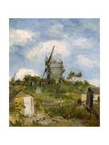 Le Moulin De Blute-Fin, Montmartre, 1886 Giclee Print by Vincent van Gogh