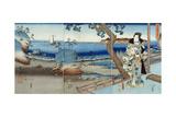 Prince Genji Watching at the Suma Beach Giclee Print by  Utagawa Hiroshige and Kunisada