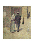 A Couple in the Street, 1887 Giclee Print by Charles Angrand