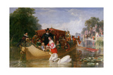 The Happier Days of Charles I, 1855 Giclee Print by Frederick Goodall