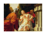 Susanna and the Elders Giclee Print by Jacques Blanchard