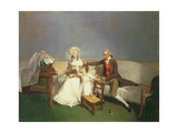 Sir Robert and Lady Buxton and their Daughter Anne, C.1786 Giclee Print by Henry Walton
