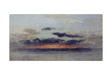 Stormy Sunset Giclee Print by John Ruskin