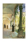 In the Cloisters of Santa Maria Jesus Monastery, in Taormina, 1885 Giclee Print by Peder Mork Monsted