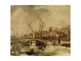 Winter Scene Giclee Print by Jan Van De Capelle Or Cappelle
