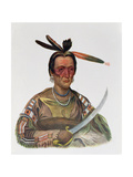 To-Ka-Cou, a Yankton Sioux Chief, 1837, Illustration from 'The Indian Tribes of North America,… Giclee Print by George Cooke