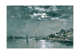 Moonlit Seascape Giclee Print by Eugène Boudin