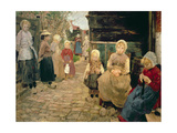 Fisherman's Children in Zandroot, 1882 Giclee Print by Fritz von Uhde