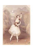 Marie Taglioni (1804-84) as Lauretta in 'La Gitana', C.1839 Giclee Print by Augustus Jules Bouvier
