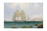 A Rigged Sloop of the White Squadron Off Plymouth, 1835 Giclee Print by John Lynn