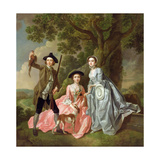 George Rogers with His Wife, Margaret, and His Sister, Margaret Rogers, C.1748-50 Giclee Print by Francis Hayman