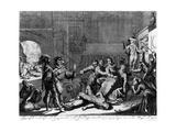 Atrocities of the Spanish Troops in Antwerp in 1576 Giclee Print by Jan Luyken