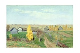 Golden Autumn in the Village, 1889 Giclee Print by Isaak Ilyich Levitan