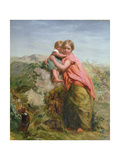 Welsh Peasant and Child Giclee Print by Paul Falconer Poole