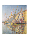 Sailing Boats in St. Tropez Harbour, 1893 Giclee Print by Paul Signac