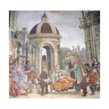 The Raising of Drusiana, from the Strozzi Chapel, 1502 Giclee Print by Filippino Lippi