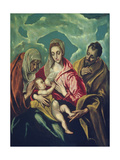 The Holy Family with St. Elizabeth Giclee Print by  El Greco