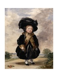 Queen Victoria, Aged Four Giclee Print by Stephan Poyntz Denning