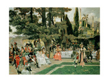 The Reception for Napoleon I on the Isola Bella in the 5th Year of His Reign Giclee Print by Francois Flameng