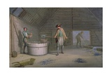 Lead Mining at Leadmills, the Washing and Sieving of the Lead Giclee Print by David Allan