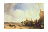 Coastal Scene in Picardy, C.1826 Giclee Print by Richard Parkes Bonington