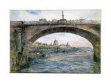 Waterloo Bridge with St. Paul's Cathedral in the Distance Giclee Print by Alfred Rawlings